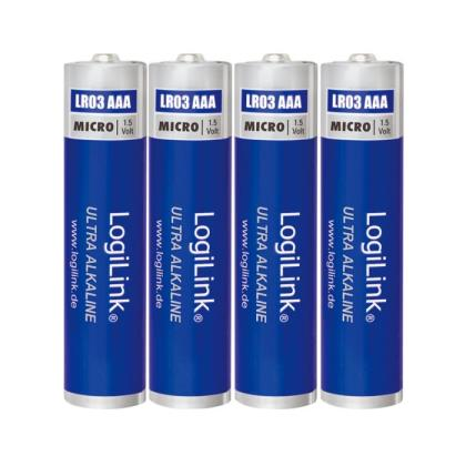 Battery Ultra Power AAA Alkaline Logilink 4pcs LR03B4