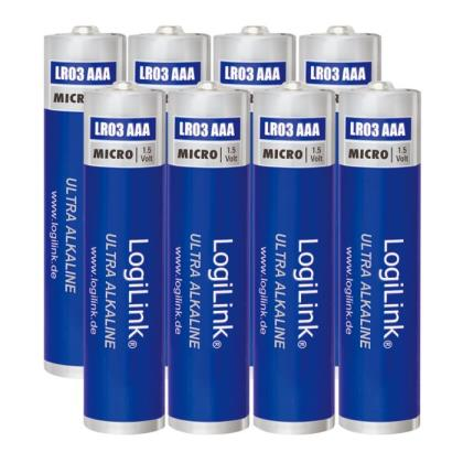 Battery Ultra Power AAA Alkaline Logilink 8pcs LR03F8