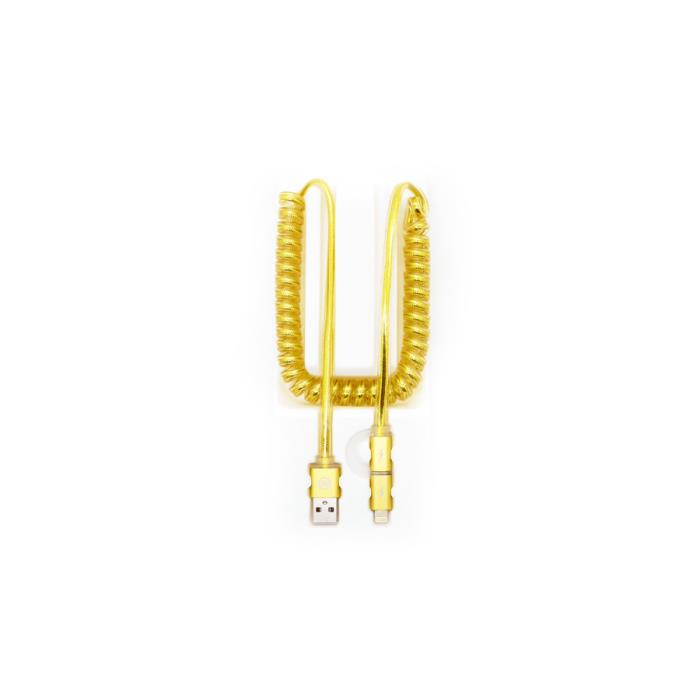 Charging Cable WK 2 in1 Gold Aurora WDC-017