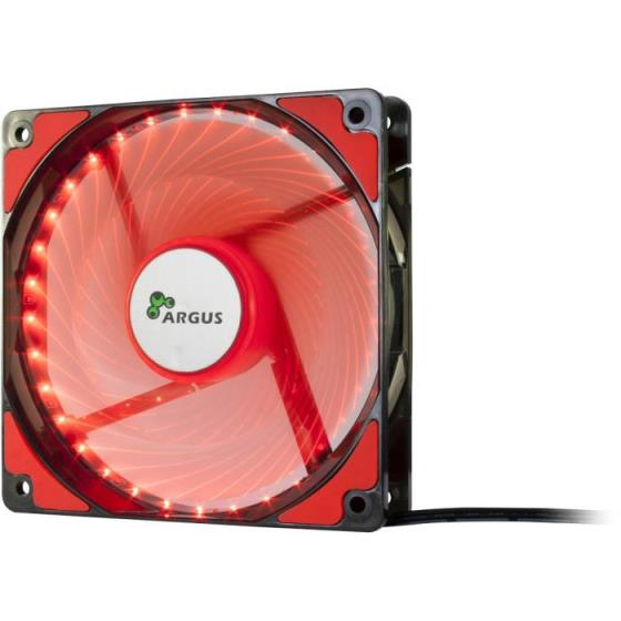 Case Cooler 12cm Argus L-12025 Red