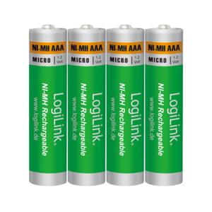 Battery NI-MH Rechargeable AAA 1.2V Logilink LR03RB4 4pcs
