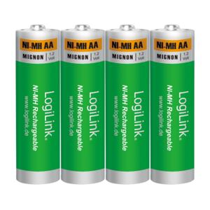 Battery NI-MH Rechargeable AA 1.2V Logilink LR6RB4 4pcs