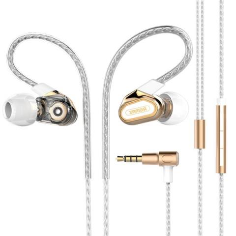 Earphone Remax Double Moving-coil RM-580 Gold