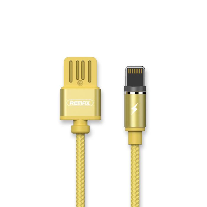 Charging Cable Remax Magnetic Lightning Gold 1m Gravity RC-095a