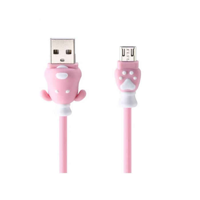 Charging Cable Remax Micro USB Pink 1m Fortune RC-106m