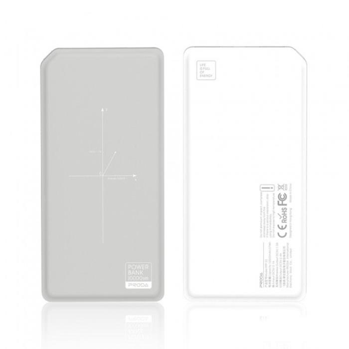 Wireless Power Bank Remax 10000mAh White/Grey Proda E5 PPP-33