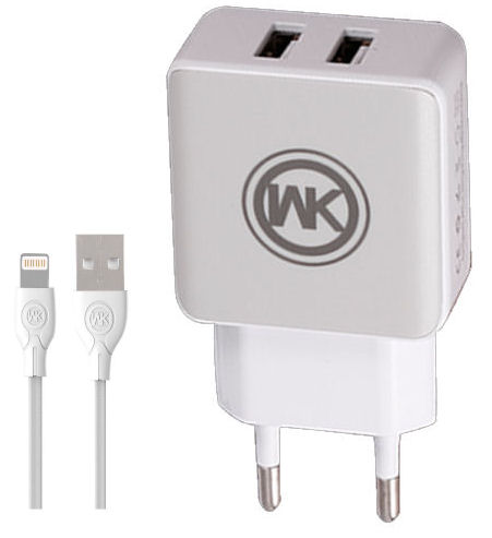 Charger WK WP-U11 Combo+I6 Cable 1m White