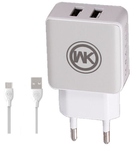 Charger WK WP-U11 Combo+ Micro Cable 1m White