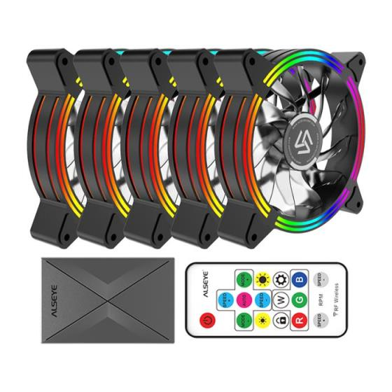 Case Cooler 12cm RGB-Fan x5 kit Alseye HALO 4.0